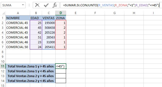 SUMAR.SI.CONJUNTO en Excel 365